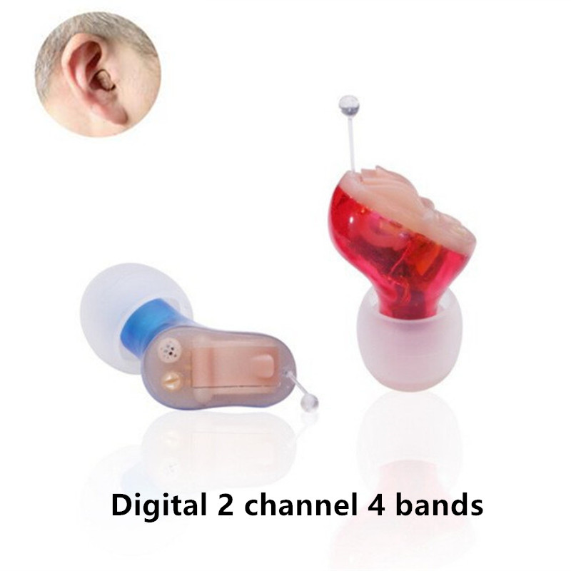 Aide auditive d'ast Digital dans l'oreille CIC pour les personnes âgées amplificateur d'audition invisible mini amplificateur de son d'oreille avec l'approbation de FDA