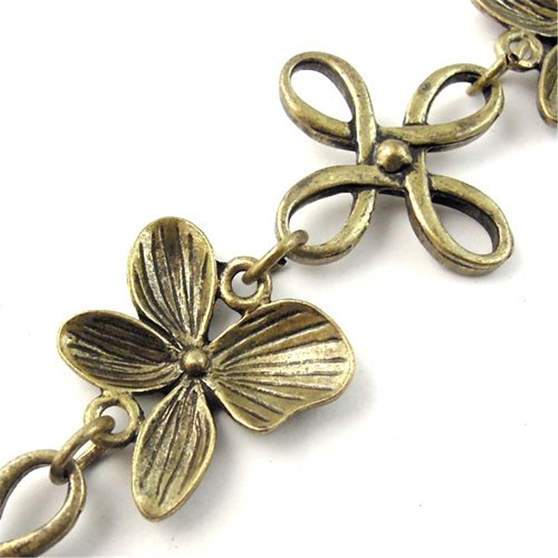 1Meter /1Lot Antiquqe Style Bronze Tone Jewelry Necklace Chain Jewelry Accessory 24*3MM (30089)