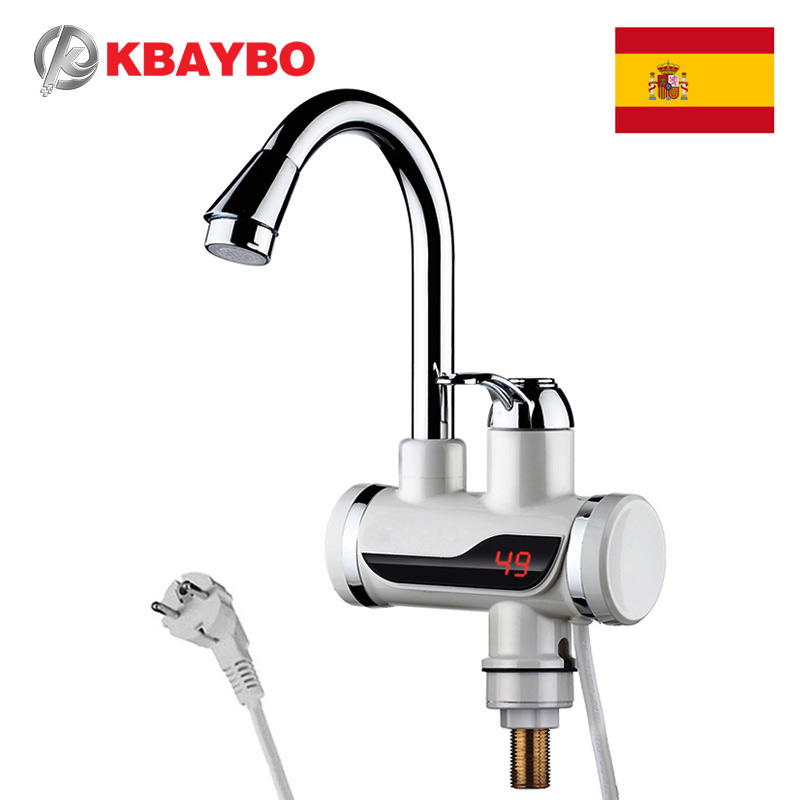 3000W Electric Water Heater Instant Kitchen Faucet Electric Instant Water Heater Tap Electric Faucet Cold Hot Dual-Use