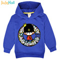 Jiuhehall New! 2017 spring boys girls hooded clothes cotton kids lovely monkey sweatshirts 3-7y children hoodies FCM110