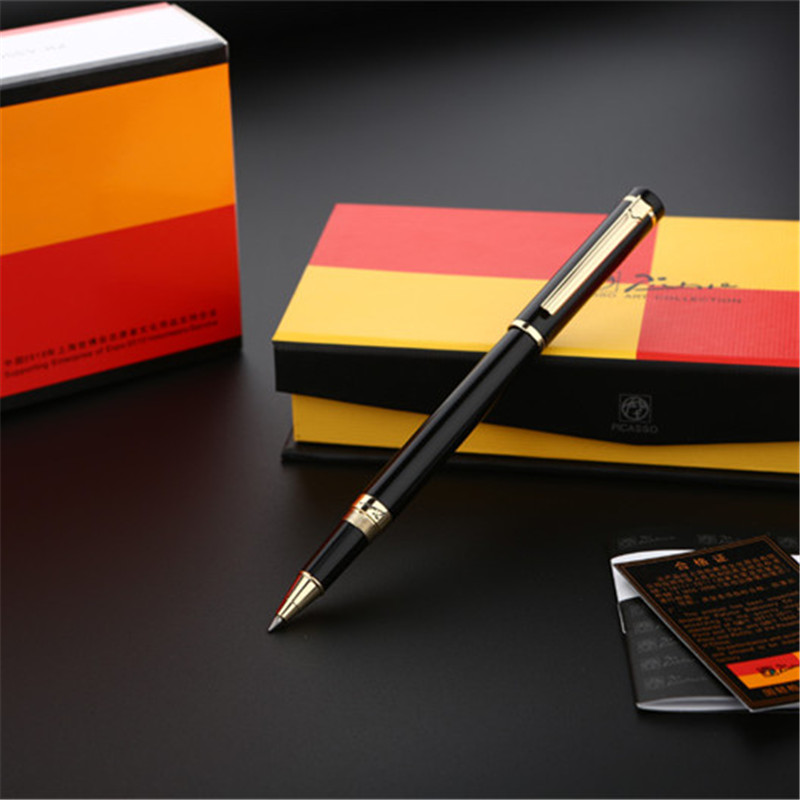 1pc/lot Picasso 908 Roller Ball Pen 3 Colors Orange/Red/Black Pens Pimio Picasso Canetas Pen School Supplies 0.5mm 13.9*1.3cm flush toilet plunger style roller ball pen red black