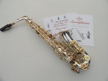 High Quality Brass Tube SUZUKI Alto Eb Saxophone E-flat Silver Plated Surface Gold Plated Key Sax Musical Instruments With Case