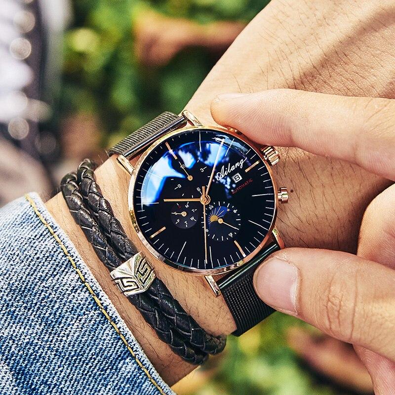 AILANG Top marque de mode de luxe hommes automatique montre mécanique minimaliste montre de sport homme Reloj Diesel Simple hommes montre