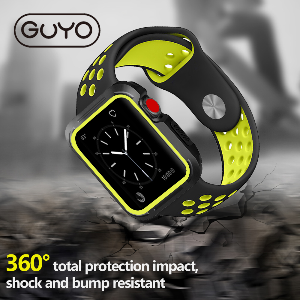 GUYO Universal Silicon Case For Apple Watch Slim Protective Bumper Cover For Apple Watch 42mm