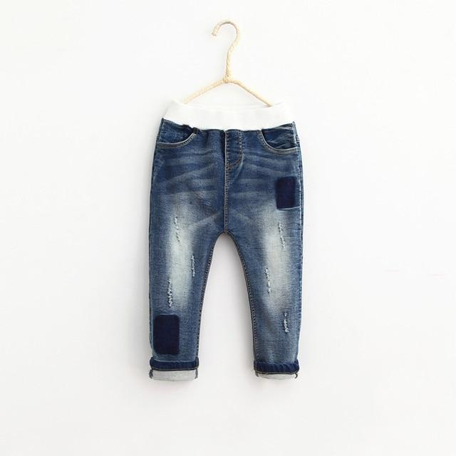 Children Unisex Denim Pants 2016 Spring Autumn Baby Girls Boys Jeans Casual Fashion Trousers Brand Wears Kids Clothing 5pcs/LOT
