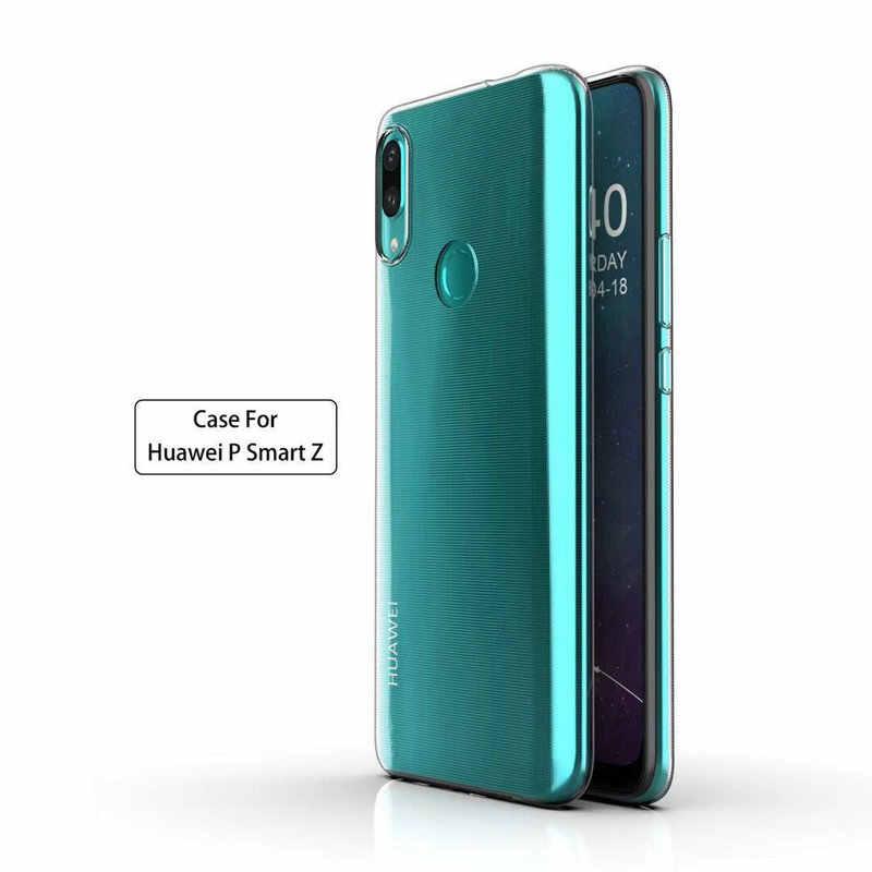 De silicona transparente para Huawei P Smart Z para Huawei Y9 primer 2019 STK-L21 STK-L22 Y9 2019 Naturaleza de teléfono suave casos de la cubierta>
