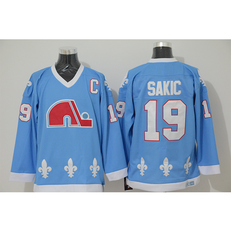 new product a4c10 92f76 Mens Retro 1990 Quebec Nordiques Joe Sakic Stitched Name&Number Throwback  Hockey Jersey -in Hockey Jerseys from Sports & Entertainment on ...