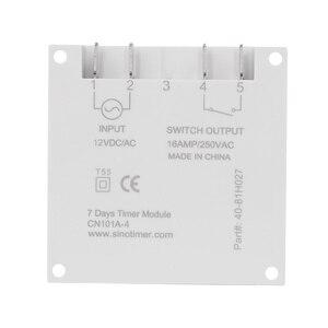 Image 5 - CN101A modèle économique Mini minuterie interrupteur 12v LCD numérique 7 jours Programmable minuterie four minuterie interrupteur 16a minuterie ca minuterie de semaine