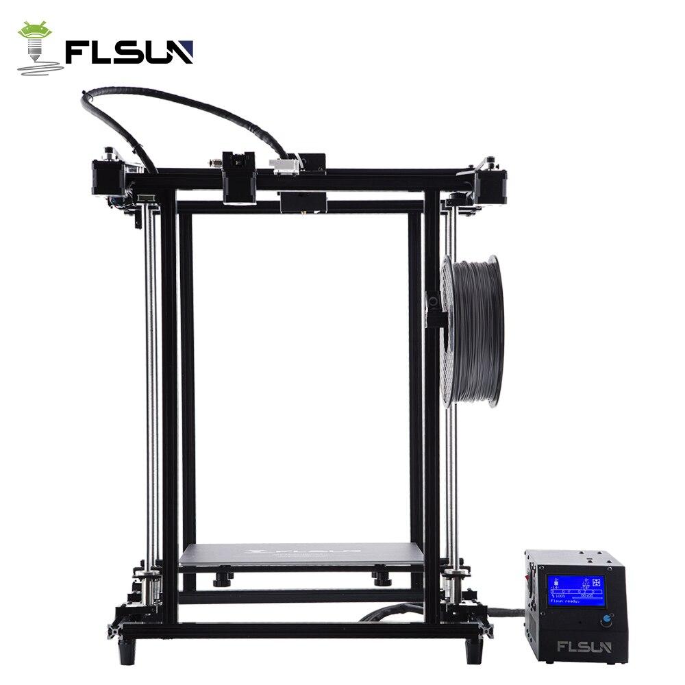 2018 Nouveau Design Pré-assmbly Flsun 3D Imprimante Grande Zone D'impression 320*320*460mm Super Chaude lit SD carte