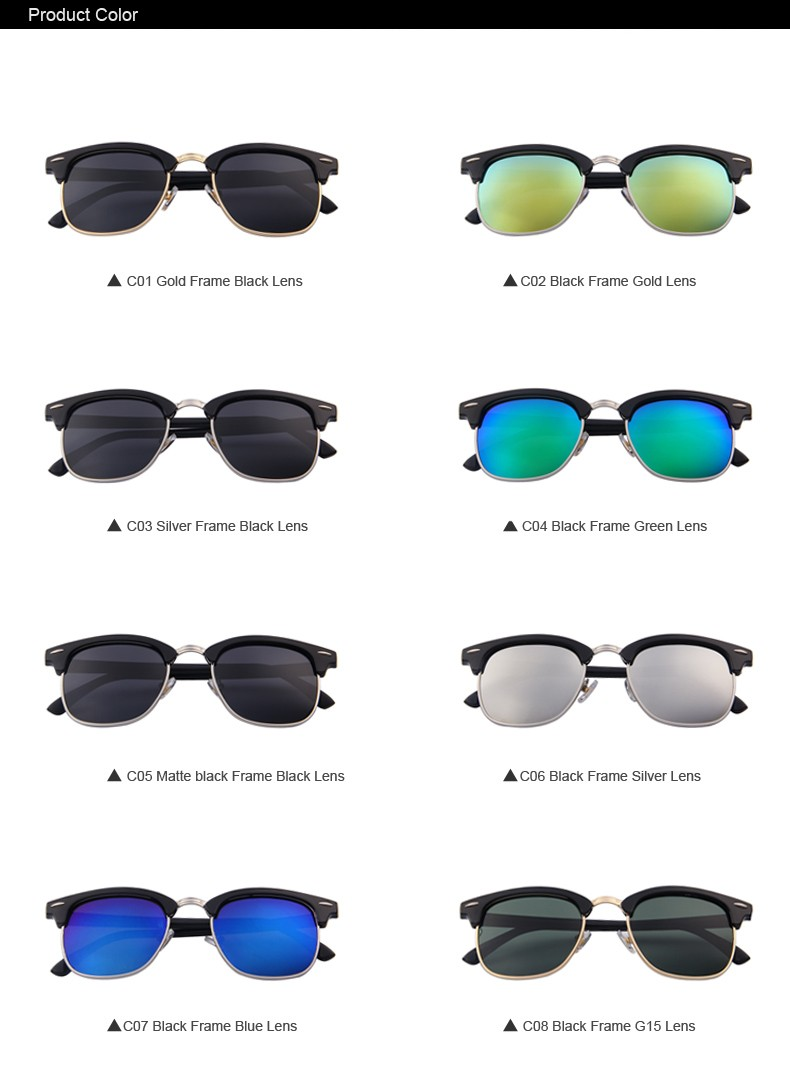 MERRY'S Classic Brand Designer Unisex Polaroid Sunglasses Sunglasses