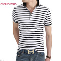 FIVE PANDA 2017 New Brand Stripe Cotton Polos Shirt Men Fashion Casual Solid Shirts Tops Plus Size Polos shirts Men CMPL002