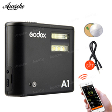 Godox A1 Smartphone Flash System 2.4G Wireless Flash Flash Trigger Constant Led Light with Battery for iPhone 6s 7 plus
