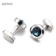 Модные роскошные темно синие запонки с кристаллами ААА для мужских