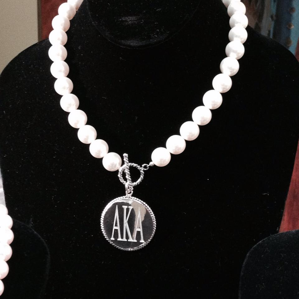 f11c07aed03ad Drop shop pearl Delta Sigma Theta DST Sorority sliver hot sell ...