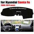 Salpicadero del coche cubre para Hyundai Santa Fe 2006-2012 años con volante a la Izquierda salpicadero pad dash cubierta auto tablero de accesorios