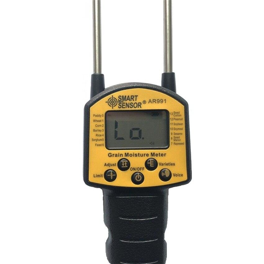 Smart Sensor AR991 Digital Moisture Meter Grain Moisture Meter Use For Corn Wheat Rice Bean Wheat Flour Fodder Rapeseed Seed in Moisture Meters from Tools