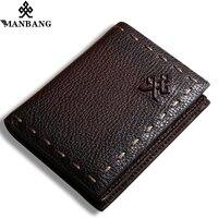 ManBang The Secret Life Of Walter Mitty Retro Wallet Handmade Custom Vintage Genuine Wallet Crazy Horse Leather Men's purse