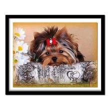 Алмазная картина стразами Алмазная вышивка собака распродажа полная квадратная Алмазная картина животное вышивка крестиком Декор