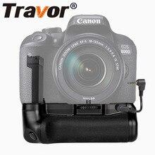 Travor pionowy uchwyt na baterię do Canon EOS 800D/Rebel T7i/77D/Kiss X9i lustrzanka cyfrowa praca z jednym lub dwoma LP E17 baterią