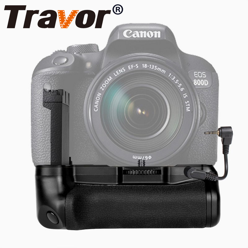 US $23 89 30% OFF|Travor vertical battery grip holder For Canon EOS  800D/Rebel T7i/77D/Kiss X9i DSLR camera work with one or two LP E17  battery-in