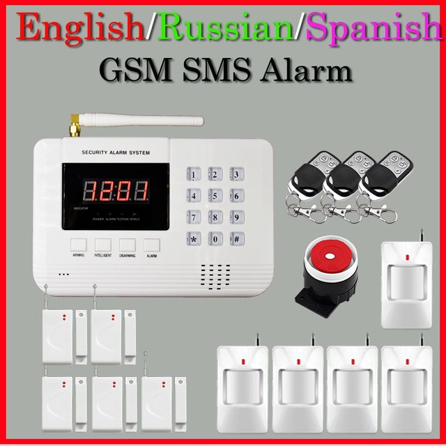 Wireless GSM Home Security Alarm System Smoke Detector 433MHz Door Open Magnetic Movement Detector Hot Selling