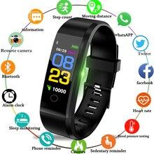 Bluetooth Смарт часы для мужчин женщин сердечного ритма мониторы приборы для измерения артериального давления Фитнес браслет «Умные» часы спортивные