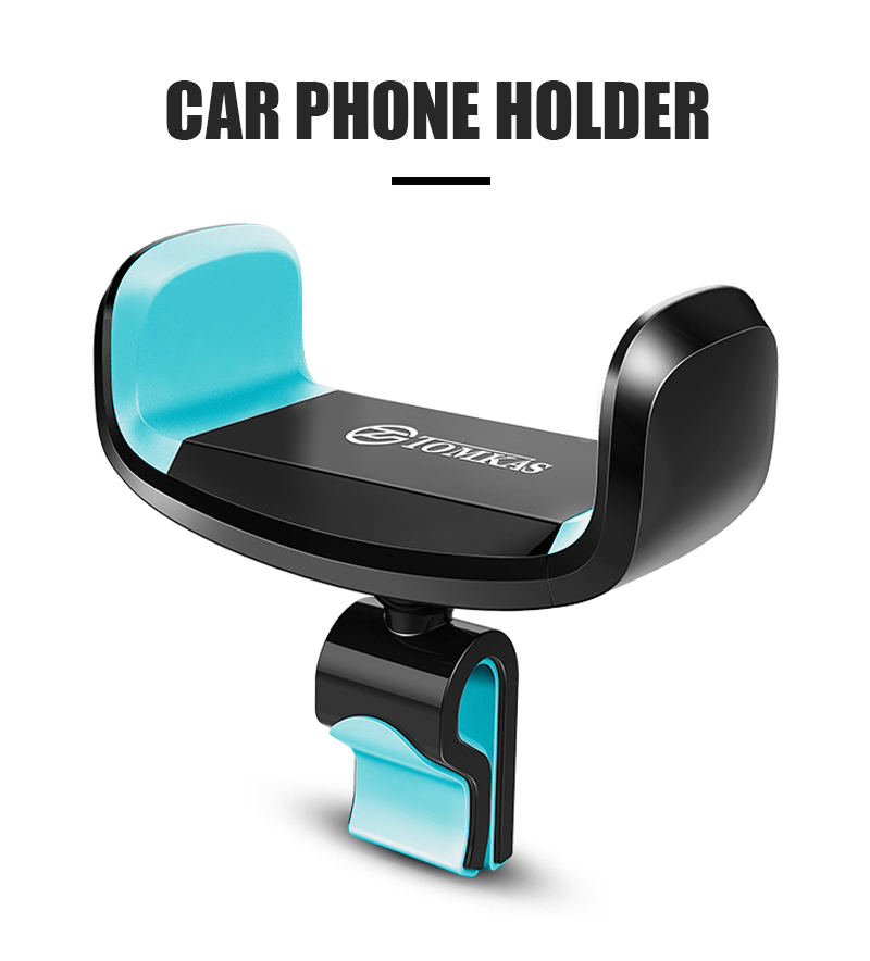 TOMKAS 360 Degree Rotatable Car Phone Holder For iPhone 7 Support Mobile Car Phone Stand Air Vent Mount Holder Stand Universal