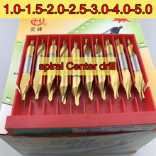 1.0-1.5-2.0-2.5-3.0-3.5-4.0-5.0mm HSS titanium 10 pçs/set espiral broca de centro De processamento: aço frete Grátis