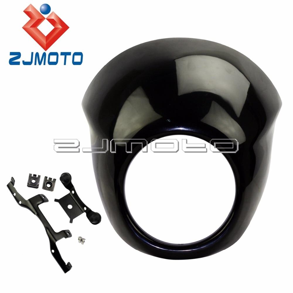 Motorcycle Headlight Mask Fairing Cafe Racer Style Front Visor For Harley Davidson Street XG 500 XG750
