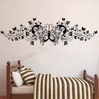 Butterfly Beautiful Wall Sticker Modern Beauty Home Decor Vinyl Art Removeable Poster Mural For Bedroom Window Decals LY818