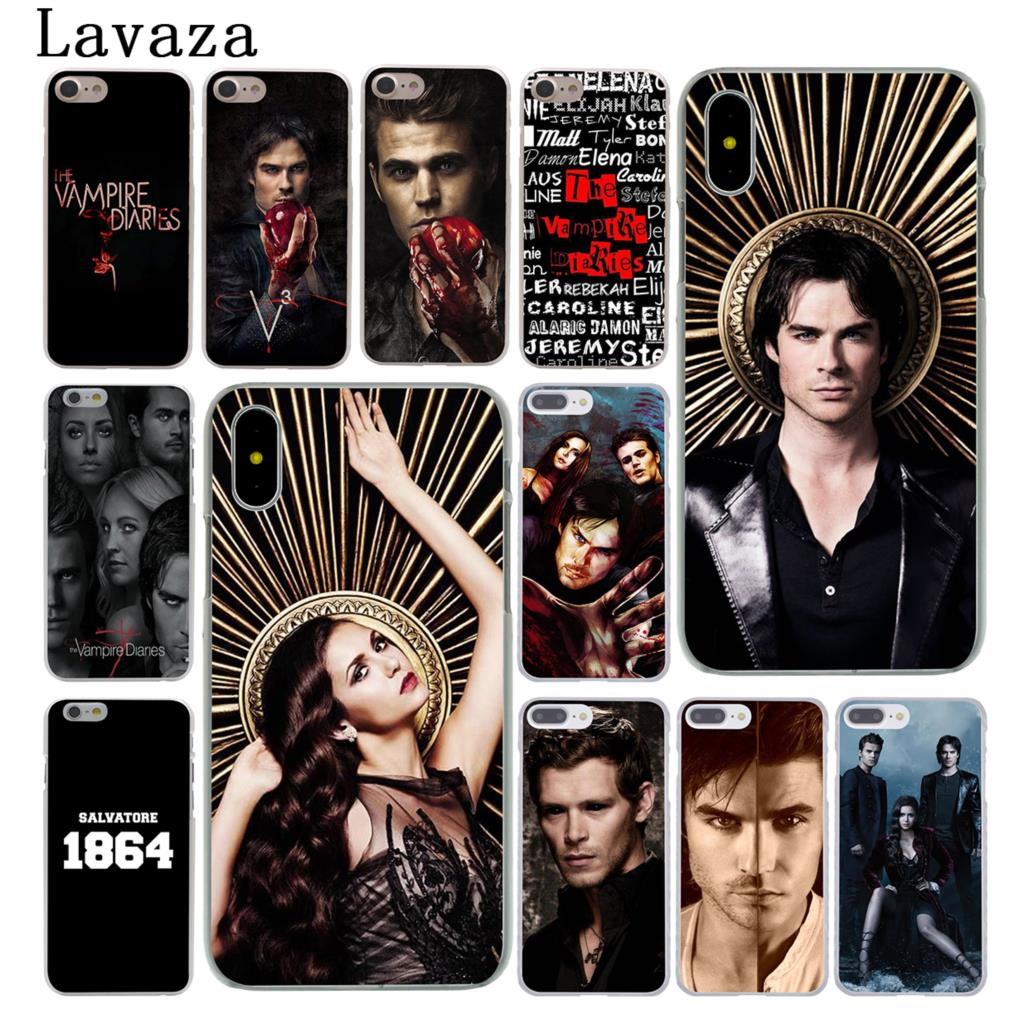 Lavaza The Vampire Diaries Hard Case Shell for Apple iPhone 6 6s 7 8 Plus 4 4S 5 5S SE 5C for iPhone XS Max XR Cases