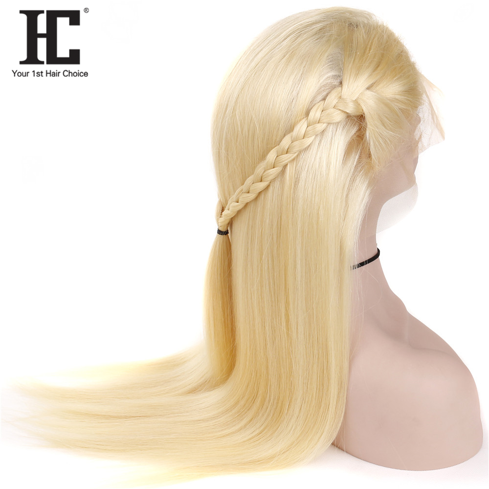 HC Glueless 13x4 Lace Frontal Wig Remy Hair 613 Blonde Lace Front Wig Brazilian Straight Human Hair 13x4 Lace Wigs Pre Plucked
