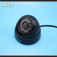 HKES 82pcs Lot 1200tvl Mini Security Dome Analog CCTV Camera Indoor IR CUT Night Vision Freeshipping