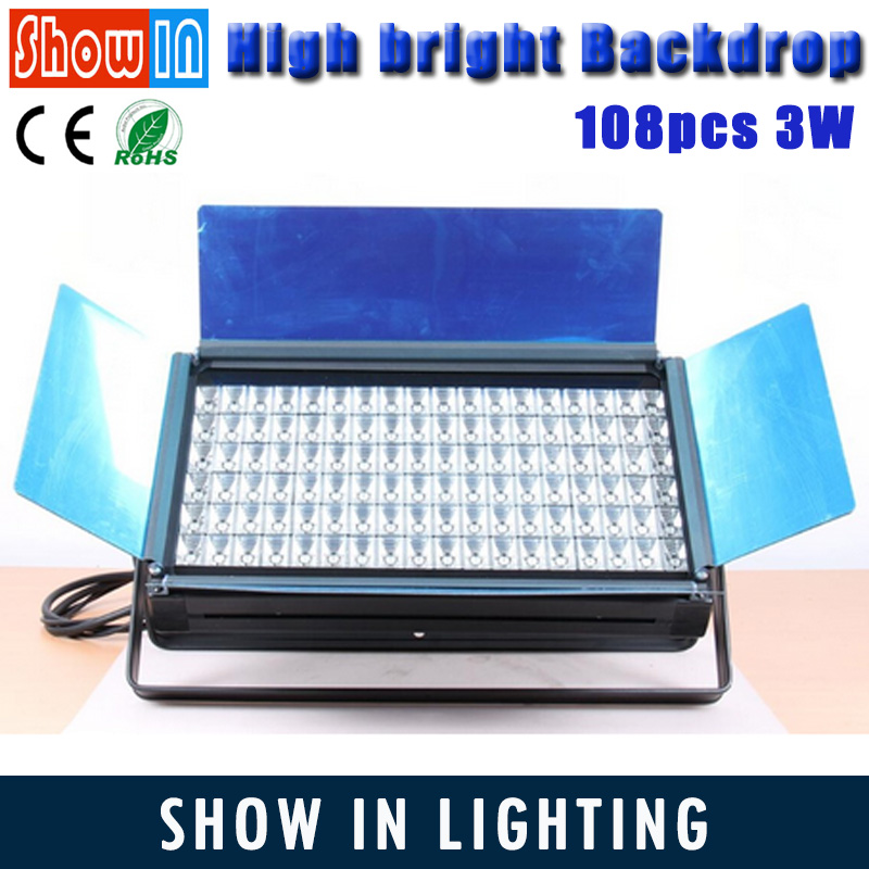 Hot Popular 108pcs 3W Hight Bright DMX512 DJ Disco Construction LED Stage Sky/Ground Backdrop Studio Light LED Theatre Light