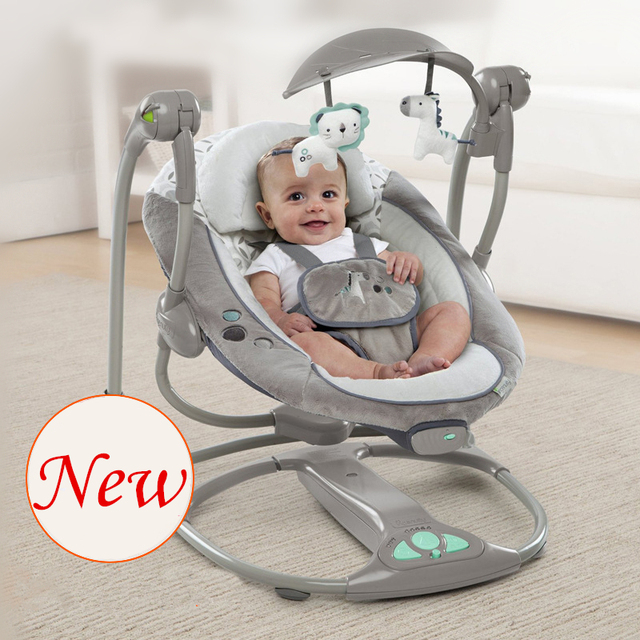 Baby Sleeper Chair Beach Lounger Plus Size Moonlight Swing Electric Cradle Rocking Vibration With Music