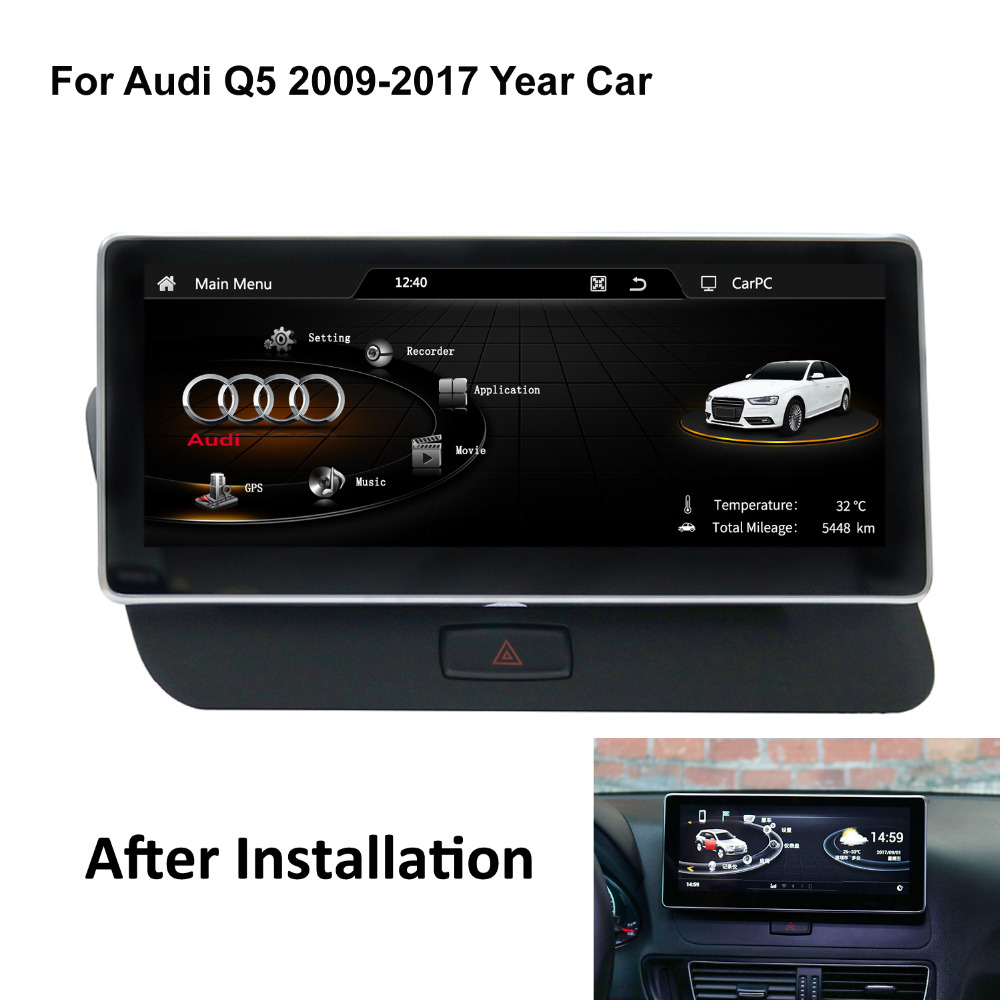 Audi Q5 2017 Android Auto: COIKA 8.8/10.25 Inch Android Car Screen For Audi Q5 2009
