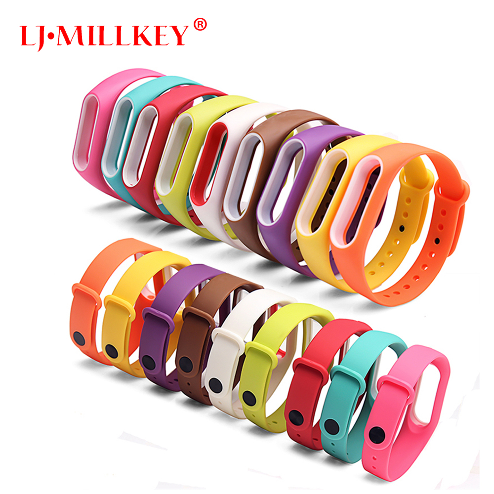 Replace Strap for Xiaomi Mi Band 2 MiBand 2 Silicone Wristbands for Xiaomi Band 2 Smart Bracelet 15 Color for Xiomi Mi Band 2 watchband strap for xiaomi mi band 2 bracelet easy fit replacement band silicone easyfit wristband 170 220mm dignity d7