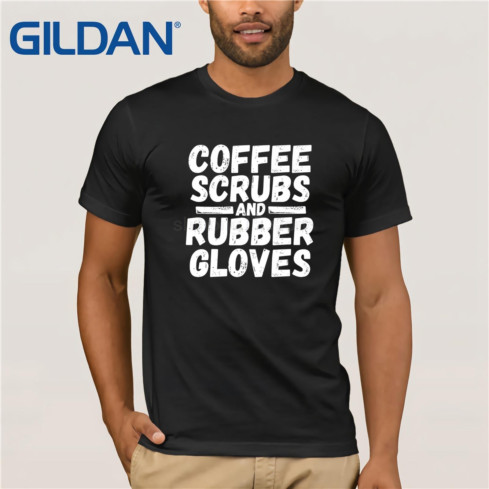 Surgical Tech Shirt Coffee Scrubs & Rubber Gloves Doctor Tee sunglasses men T-shirt