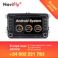 Hot sale 2019!Navifly android 8.1 system car auto radio stereo for Volkswagen/polo/Passat B6/GOLF 5 /CC/SHARAN/BORA/JETTA