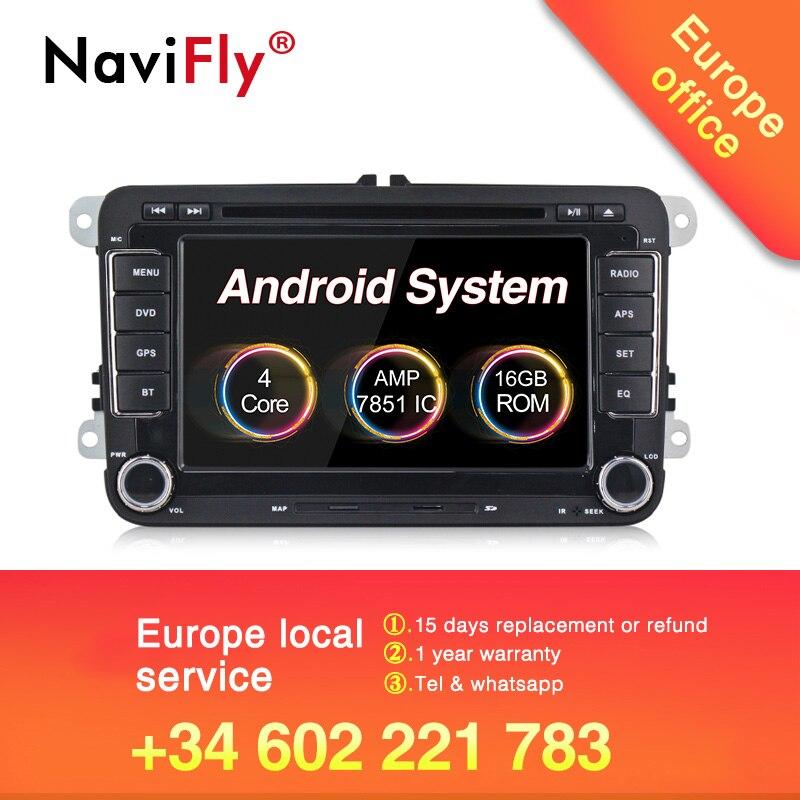 Vendita calda 2019! navifly android 8.1 auto sistema di auto radio stereo per Volkswagen/polo/Passat B6/GOLF 5/CC /SHARAN/BORA/JETTA