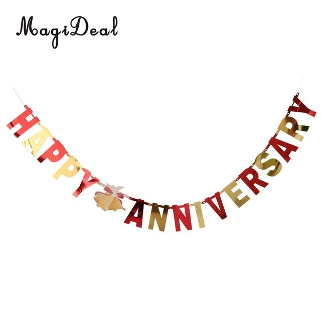 Happy Anniversary Letters Bunting Banner Bell Garland Home Party