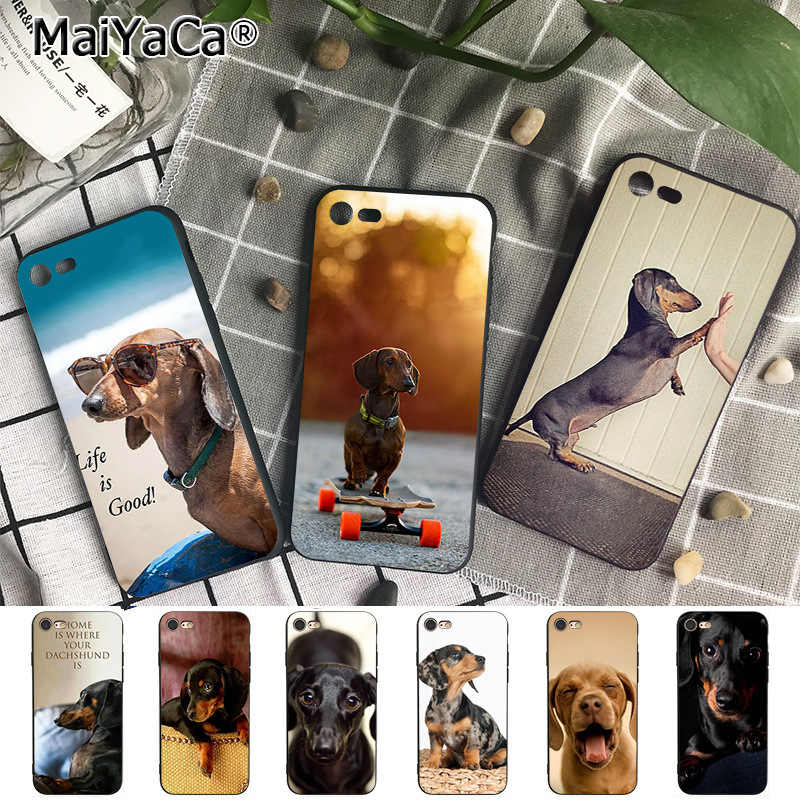 MaiYaCa Animal Dachshund Dog Puppy Coque Phone Case  for iphone 11 Pro XR XS Max 8 7 6 6S Plus 5S SE XR