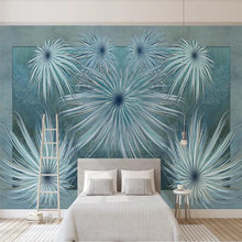 Custom wallpaper Nordic modern minimalist retro flower American background wall decoration waterproof material