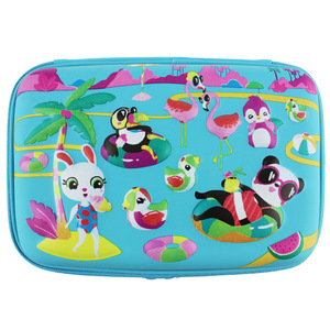 Image 2 - Kawaii School Pencil Case for Girls Penal Cute 3D Pen Bag EVA 2 Layers Large Penalty Box Boys Pencilcase Kit Stationery Pouch