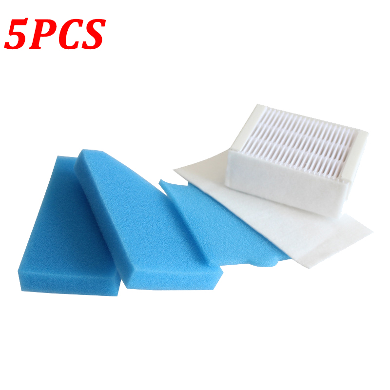5PCS/LOT Dust HEPA Filter For Thomas 787241 99 Robot Vacuum Cleaner Parts Accessories Replacement Foam Filters