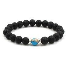 New Bohemia Charm Bracelet Natural Stone Lava Beads Earth Globe Handmade Men For Women Mens Bracelets 2019 Dropshipping