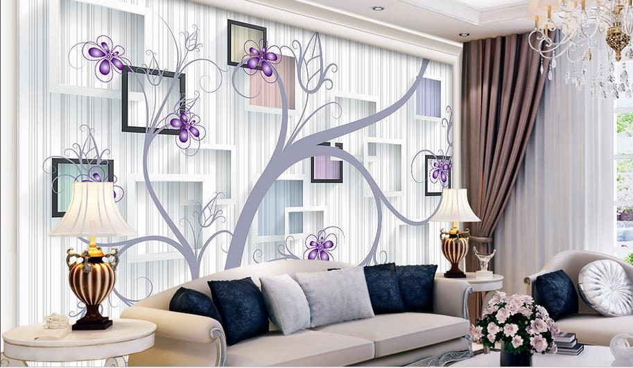 Modern simple warm flowers non-woven woods 3d photo wallpaper for walls 3 d Living room bedroom wall papers home decor home improvement modern solid color non woven wallpaper for walls roll bedroom living room tv background wall papers home decor