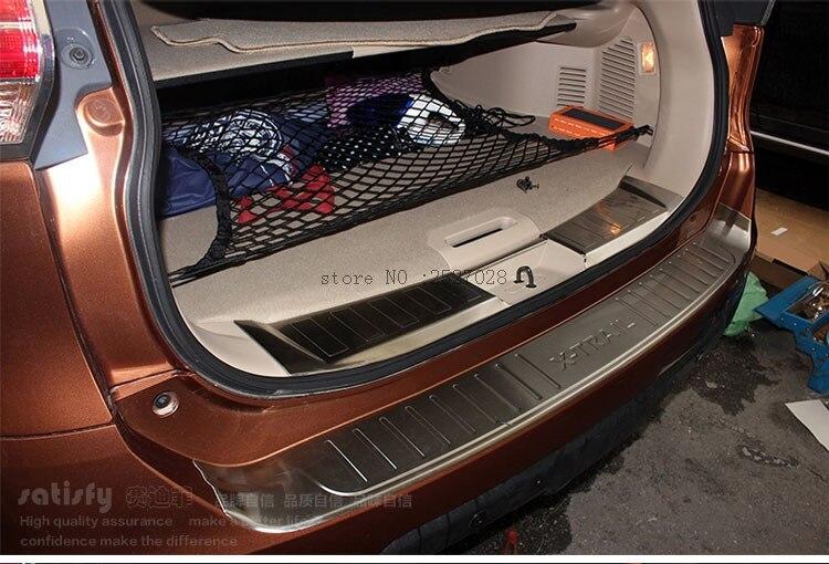 Prix pour Pour 2014 2015 Nissan X-trail X Trail T32 Voyous Inoxydable acier Pare-chocs Arrière Protecteur Sill Tronc Garde Cover Version Voiture accessoires