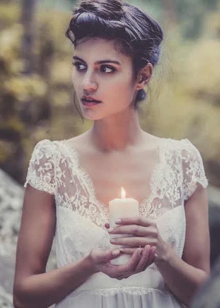 2018 винтажное свадебное платье es с v-образным вырезом, открытая спина, сексуальное, бохо, шифоновое, кружевное, Пляжное, свадебное платье, элегантные свадебные платья, на заказ, белое