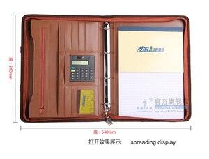 Image 3 - A4 רוכסן עור מפוצל עסקי משרד מנהל מסמך תיק תיק תיק כנס הסכם תיק עם ידית 442C